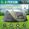 Camping Tent, 5-6 Person Outdoor Tents, Blackout Tent Waterproof Camping Hiking Tent with 2 Doors, for family camping and outdoor activities, 110.24x82.68x47.24inch