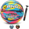AND1 Ultra Grip Advanced Premium Rubber Basketball (Deflated with Pump Included): Official Regulation Size 7 (29.5 In.) Streetball, Made for Indoor/Outdoor Basketball Games
