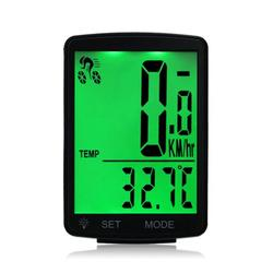 Carevas 2.8in Bicycle Wireless Computer, Waterproof LCD Screen Bicycle Computer Wireless Bike Rainproof Speedometer Odometer Cycling with Battery(80*54*18.6mm /3.1*2.1*0.7in)