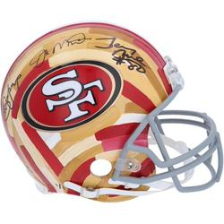 Joe Montana San Francisco 49ers Autographed Riddell Authentic Helmet - Hand-Painted Art by Charlie Turano III - Fanatics Authentic Certified