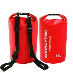 Waterproof Dry Bag - Soatuto Water Resistant Roll Top Dry Compression Sack Keeps Gear Dry for Kayaking, Beach, Rafting, Boating, Hiking, Camping and Fishing Waterproof Dry Bag - 15L / Red
