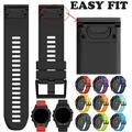 Watch Band Strap Silicone Uneven Pin Buckled Wristband With Double Rings Wristwatch Bands Replacement Accessories Compatible For Garmin