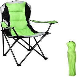 350lbs Capacity Folding Chairs, Portable Camping Chair with Cup Holder and Pad, 600D Oxford PVC Camping Backpack Chair with Bag, Lightweight Breathable, for Outdoor, Camping, Hiking, Picnic, Fishing