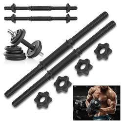 TMISHION 17Inch Dumbbell Bars,(2Pcs/Set) Gym Home Training Dumbbell Bars Weight Lifting Handles with 4 Spinlock Collar,Weight Lifting Handles