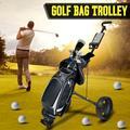 Golf Cart Foldable Pull Push Golf Cart 2 Wheel Trolley Swivel Anti-shock 360° Wheels with Cup Holder Scoreboard Foot Brake, Lightweight Golf Push Cart