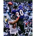 "Ed Reed Baltimore Ravens Autographed 16"" x 20"" Interception vs. Texans Photograph with ""HOF 19"" Inscription - Fanatics Authentic Certified"