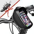 "Bike Phone Mount Bag Bicycle Phone Front Frame Bag, Waterproof Bike Phone Holder Handlebar Bags with Bike Repair Tool Kits for Mountain & Road Bike Fit Phone Under 6.5"" iPhone 11 Pro XS Max S10 Plus"