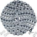 6/7/8-Speed Bicycle Chain 1/2 x 3/32 Inch 116 Links Bike Chain with 2 Pairs Bicycle Chain Link Connectors