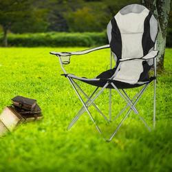 Medium Camping Chair Fishing Chair Folding Chair, Folding Camping Chair Portable Camp Chairs Outdoor for Camp Lawn Hiking Fishing Sports(Black Gray)