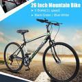 Dirt Bike Mountain Bike Exercise Bike Road Bike Mens Bike Girls Bike 26 Inch 21-Speed Mountain Bike Bicycle Adult Student Outdoors Women Men Adjustable Bicycle