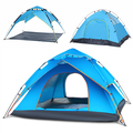 2 in 1 Popup Tents for Camping, 3-4 Person Instant Popup Family Camping Tent Double Layer Waterproof Shelter Dome Tent with Carry Bag & Footprint for Hiking Camping Fishing