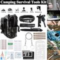 Kepeak 65 in 1 Outdoor Camping Survival Gear Kit Fishing Tactical Bag EDC Emergency Kit for Home Office Car Boat Camping ,Hiking,Men Dad Husband Survival Gear Tool Kit Survival Tool
