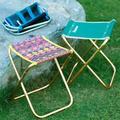 Small folding camping stool, portable camping stool, used for outdoor camping, walking, hunting, hiking, fishing