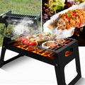 Bescita Mini Portable Camping Grill With Barbecue Net Outdoor Wood Stove Camping Grill