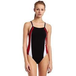 Speedo Women's Endurance Plus Side Shirred Tank One Piece Black/Red