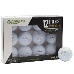 Titleist ProV1x Golf Balls, Refurbish, Replay Golf 12 Pack