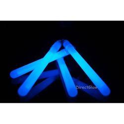 25- 4 Inch 10mm Blue Glow Stick Necklace W/lanyards, 25 Blue 4 inch 10mm glow sticks with lanyards per unit purchased. By DirectGlow LLC,USA