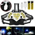 Rechargeable Headlamp,11 LED Headlamp Flashlight with White Red Lights,5 Modes USB Rechargeable Waterproof Head Lamp for Outdoor Camping Cycling Running Fishing, Head Lamps for Adults