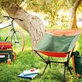 MF Studio Camping Chair Portable Ultralight Compact Folding Camping Backpack Chairs with Carry Bag Heavy Duty 225lb Capacity Compact Lightweight Folding Chair for The Outdoors, Camping, Hiking,Orange