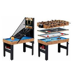 """MD Sports 5 in 1 48"""" Combo Game Table, Pool, Slide Hockey, Foosball, Table Tennis, Basketball"""