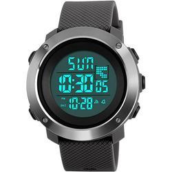 Digital Sports Watch, Military Outdoor Watch For Men Waterproof LED Waterproof Watches Electronic Back Light 50M Waterproof Stopwatch Alarm - Gray