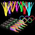 """500 Glow Sticks Bulk Party Supplies - Glow in The Dark Fun Party Pack with 8"""" Glowsticks and Connectors for Bracelets and Necklaces for Kids and Adults"""