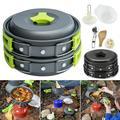 Outdoor Camping Portable Tableware Fry Pan Pot Cooking Travel Picnic Set
