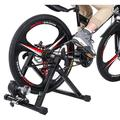 """MIUOWANP Bike Trainer Stand For Indoor Riding,Bicycle Trainer, Magnetic Bicycle Stationary Stand[ 24""""–28""""or 700c wheel](Resistance Wheel)"""