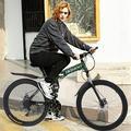 "BLUKIDS Mountain Bike 26"" Adult Folding Mens Bike 21-Speed Double Disc Brakes Bicycle, Full Suspension High Carbon Steel Frame Non-slip(Green)"