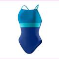 Speedo Women's Ultraback Racerback One Piece Swimsuit, Atlantic Blue, 12