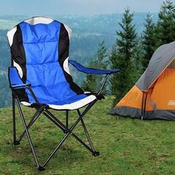 Portable Folding Camping Chair, Camping Chair with Arm Rest Cup Holder and Storage Bag, Folding Camping Chair, Strong Steel Frame, Heavy Duty Supports 350 lbs for Camp, Travel, Picnic, Hiking, T15