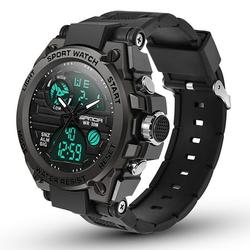 Men's Watches Military Tactical Watch EEEkit Mens Digital Sports Outdoor Watch Waterproof Analog Wristwatch Large Face Alarm Dual Time Army Wrist Watch LED Stopwatch Calendar Day Date
