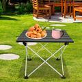 Tebru Aluminium Alloy BBQ Table,Aluminium Alloy Portable Folding Table BBQ Camping Table Desks for Outdoor Picnic,Portable Folding Table