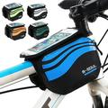 SPRING PARK Bicycle Bike Front Top Tube Frame Storage Pouch Double Bag Pouch for 5.7 Inch phone