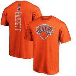RJ Barrett New York Knicks Fanatics Branded Playmaker Name & Number Team T-Shirt - Orange