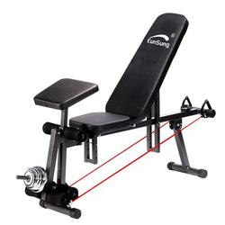 LEBONYARD Dumbbell Bench for Full Body Workout Dumbbell Weight Training and Body Weight Exercises Home Gym Fitness, Home Gym Adjustable Weight Bench Barbell Lifting Workout Fitness Incline Black