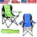 Folding Chairs Camping Lightweight Folding High Back Camping Chair with Headrest, Portable Compact for Outdoor Camp, Travel, Picnic, Festival, Hiking, Backpacking