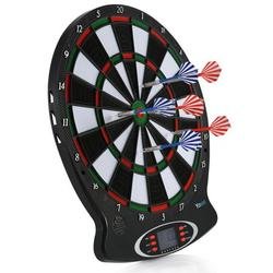 Haofy Electronic Games, Target,Electronic Soft Tip Dartboard LCD Display 15 Inch Target Face 6 Soft Tip Darts Target Board