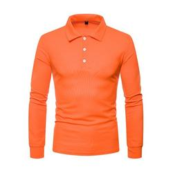 Men's Polo T Shirt Long Sleeve Cotton Casual Top Athletic Stretch Golf T-Shirts