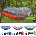 GustaveDesign Portable Camping Hammock 2 Person Double Backpacking Hammock For Camping, Outdoor, Hiking, Travel, Beach, Yard - Blue