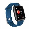 Prettyui Smart Watch Fitness Tracker Watches Heart Rate Monitor IP67 Waterproof Digital Watch with Step Calories Sleep Tracker Blue