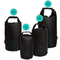 Waterproof Dry Bag - 10L - Black - Water Proof Bags for Food Storage and Protecting Gear at the Beach or While Kayaking, Hiking, Camping, Fishing, and Boating - Drybag Sack for Wet Outdoor Activities