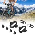 Tebru Bicycle Cleats Locking Plate,Cycling Accessories,Universal Bicycle Shoes Cleats Bike Pedal Locking Plate Accessory for Outdoor Cycling Riding