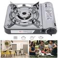 LYUMO Camping Gas Stove,Outdoor Gas Stove,MS‑3800DFSB Camping Butane Portable Gas Stove Outdoor Windproof Portable Barbecue Stove