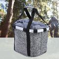 Tebru Bicycle Basket, Bicycle Basket Bike Front Frame Bag Carrier Hand Bar Storage Pouch Folding Basket, Bike Bag