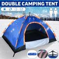Instant Automatic Open Up Tent, Family Camping Tent 2-3 Person Portable Tent Automatic Tent Waterproof Windproof with Mosquito Net for Camping Hiking Mountaineering, Size 79x60x43inch