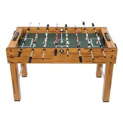 """48"""" Foosball Table, YOFE Soccer Table Game with 2 Football, Foosball Game Table with 2 Cup Holder, Competition Size Game Table for Kids Adults, Game Foosball Table for Home Game Room, Log Color, R5066"""