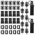 Onever 42Pcs Tactical Molle Attachments Tactical Gear Clips Nylon Buckle Military D-ring Locks Tactical Hydration Water Tube Clips For Hiking Camping Outdoor Survival