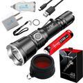 Klarus XT11X CREE Flashlight - 3200 Lumens + FT11X Red Filter + USB Plugs