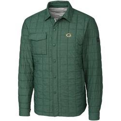 Green Bay Packers Cutter & Buck Rainier Shirt Jacket - Green